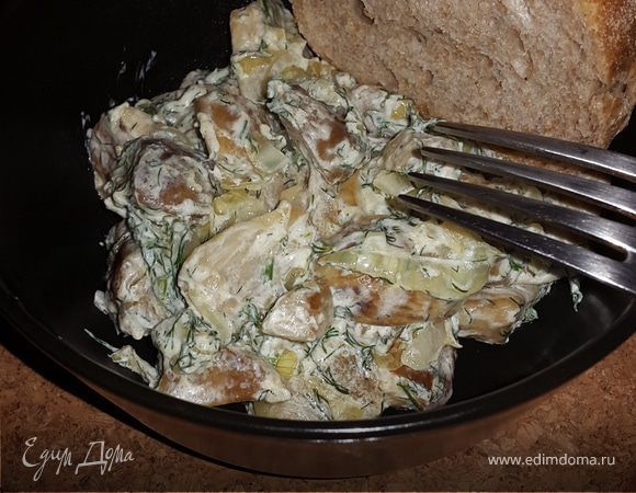 Белые грибы, жареные с луком и сметаной | Рецепт | Жареные ...