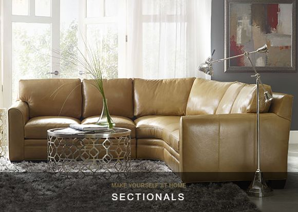 Make a statement with Bradington-Young Furniture and these beautiful sectionals to complete your living room. #YYC #YYCLiving #Airdrie
