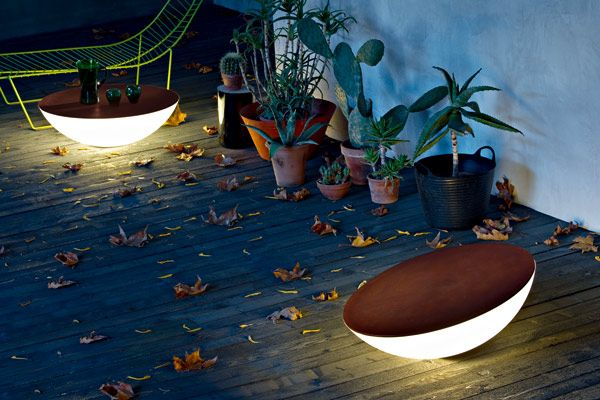Solar outdoor light/table- designed by JEAN-MARIE MASSAUD. Click for more details.