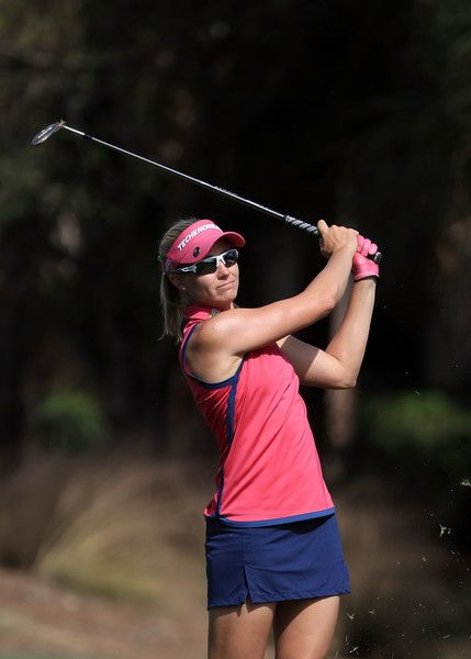 Ryann O'Toole plays her shot on the sixth hole during the second round of the CME Group Tour Championship at Tiburon Golf Club on November 18, 2016 in Naples, Florida.