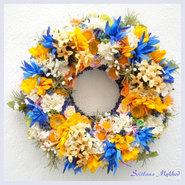 """Couronne florale """"Adele"""". Création unique ! : Accessoires de maison par perles-et-couronnes"""