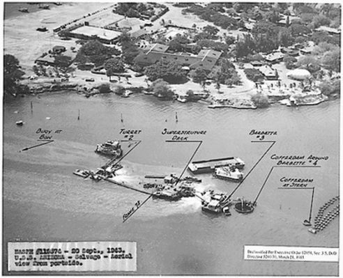 Picture of the USS Oklahoma at