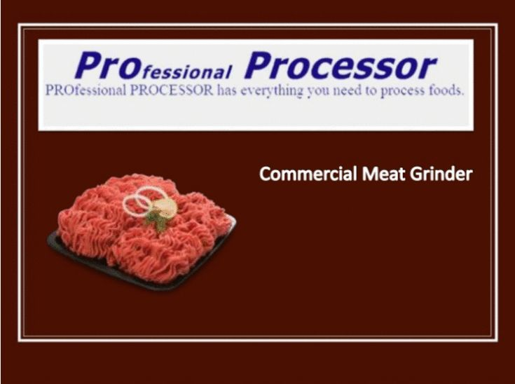 Place order for the best #commercial #meat #grinder #machine online at ProProcessor.com in your budget. Quality Assurance!  See more relevant products: http://www.proprocessor.com/electric-meat-grinders.htm