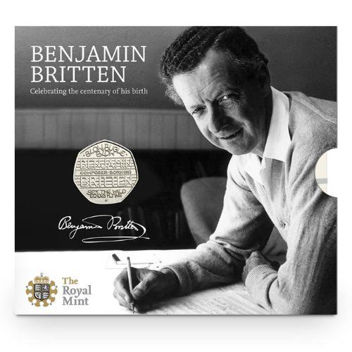 The Royal Mint The 2013 100th Anniversary of the Birth of Benjamin Britten 50p BU Coin: Amazon.co.uk: Toys & Games