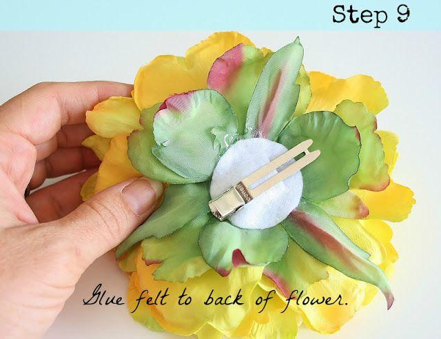diy flower hair clip tutorial