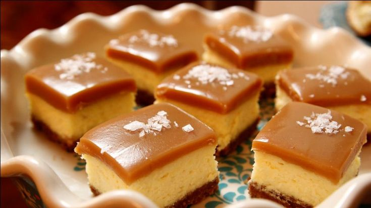 Ree whips up a batch of her luscious Salted Caramel Cheesecake Squares.
