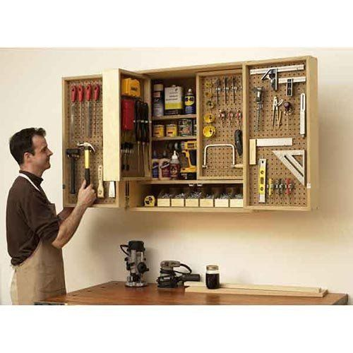 Diy Storage Cabinet Plans: Wall-mounted Multi-layer Tool Cabinet. DIY