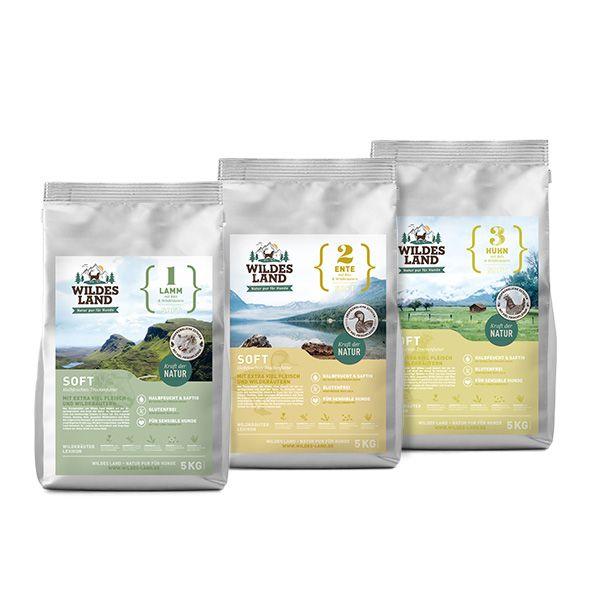 3x5kg Hundefutter Soft Mixpaket Getreidefrei Trockenfutter