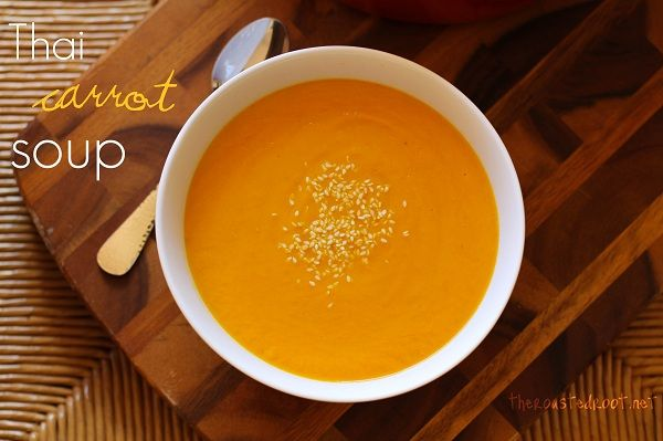 Smooth, creamy Thai Curry Carrot Soup with coconut milk -- perfect for ...