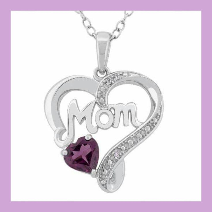 Beautiful white gold pendant with an amethyst gem stone representing the birth of a child in the month of February. Can be cutomized to suit your Mom's style and made within your budget. Contact us in store a West Edmonton Mall. #happymother'sday