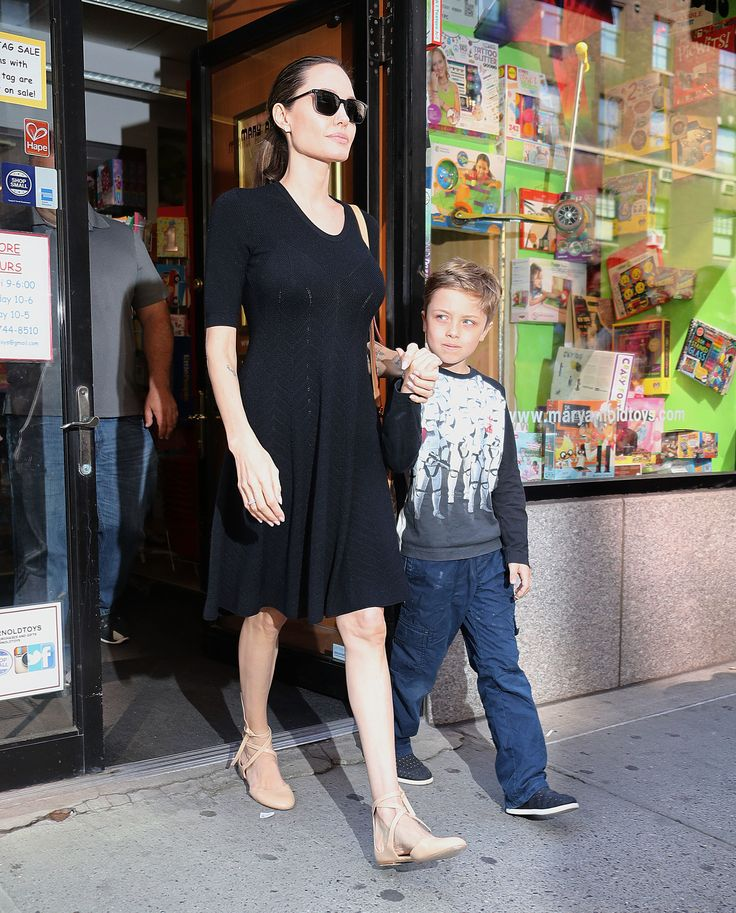 NEW YORK, NY - JUNE 18:  Actress Angelina Jolie, with her son Knox Jolie-Pitt are seen on June 18, 2016 in New York City.  (Photo by XPX/Star Max/GC Images) via @AOL_Lifestyle Read more: https://www.aol.com/article/lifestyle/2018/01/10/angelina-jolies-complete-style-transformation/23330132/?a_dgi=aolshare_pinterest#fullscreen