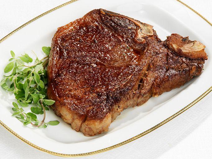 Pan Seared T-Bone Steak recipe from Food Network Kitchen via Food Network