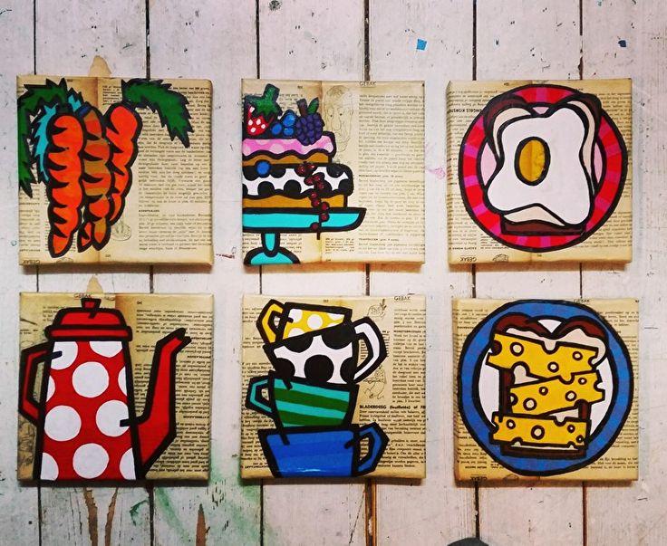 kleurrijk schilderij, kleurrijke schilderijen, vrolijk schilderij, popart