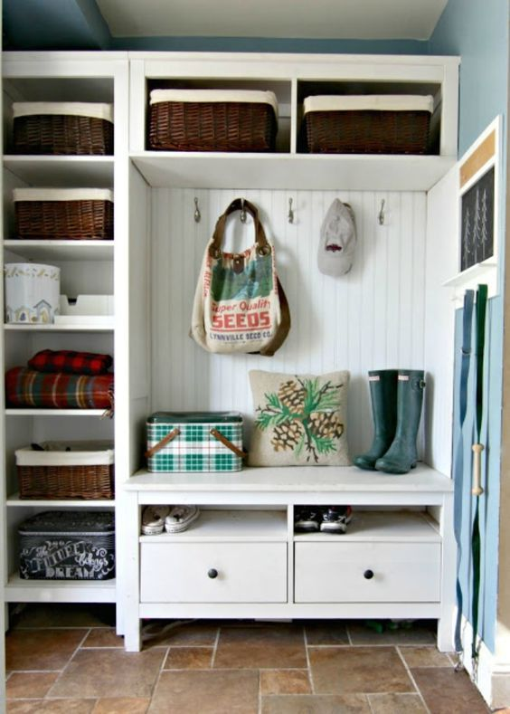ikea hemnes series could also be used for a hallway organization - Shelterness