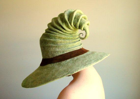 Wide Brim Wizard Hat. Witch Hat. Felt Hat. Ren Faire Hat. Cosplay Hat.