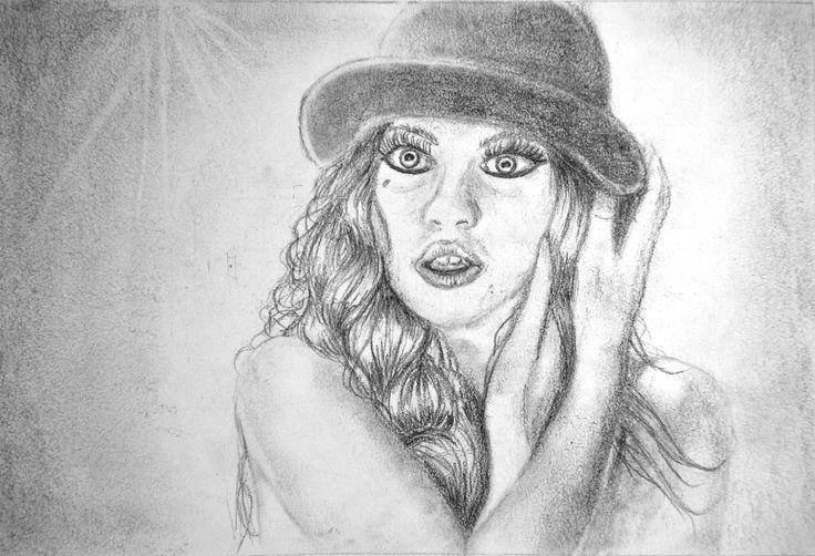 Ejercicios para libro de dibujo/Retrato /Lápiz sobre papel por Jessica Millan G