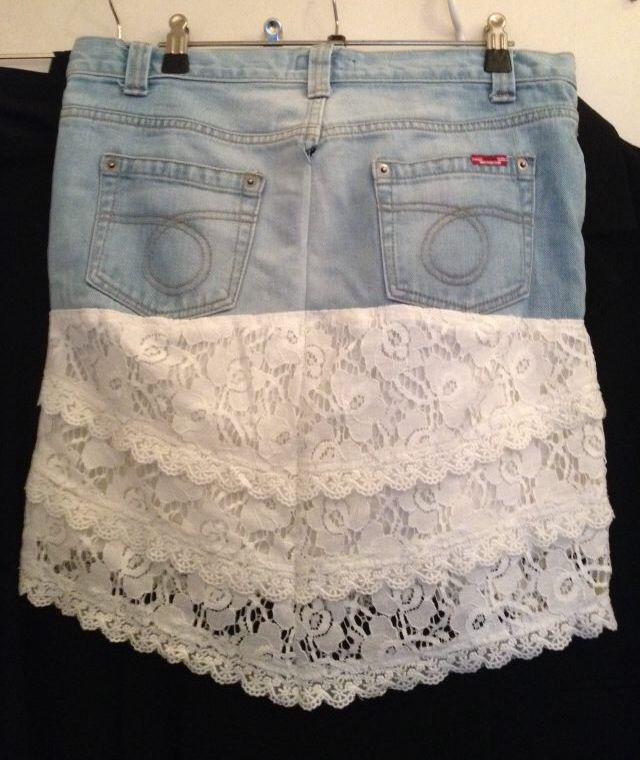 Recyceld Denim / Cowboy skirt bag