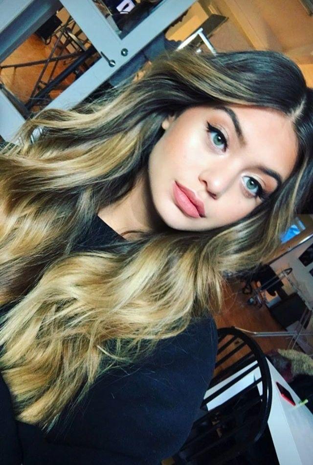 ❤️ Pinterest: DEBORAHPRAHA ❤️ sofia jamora with her beautiful balayage colored hair. I love the ombré effect!