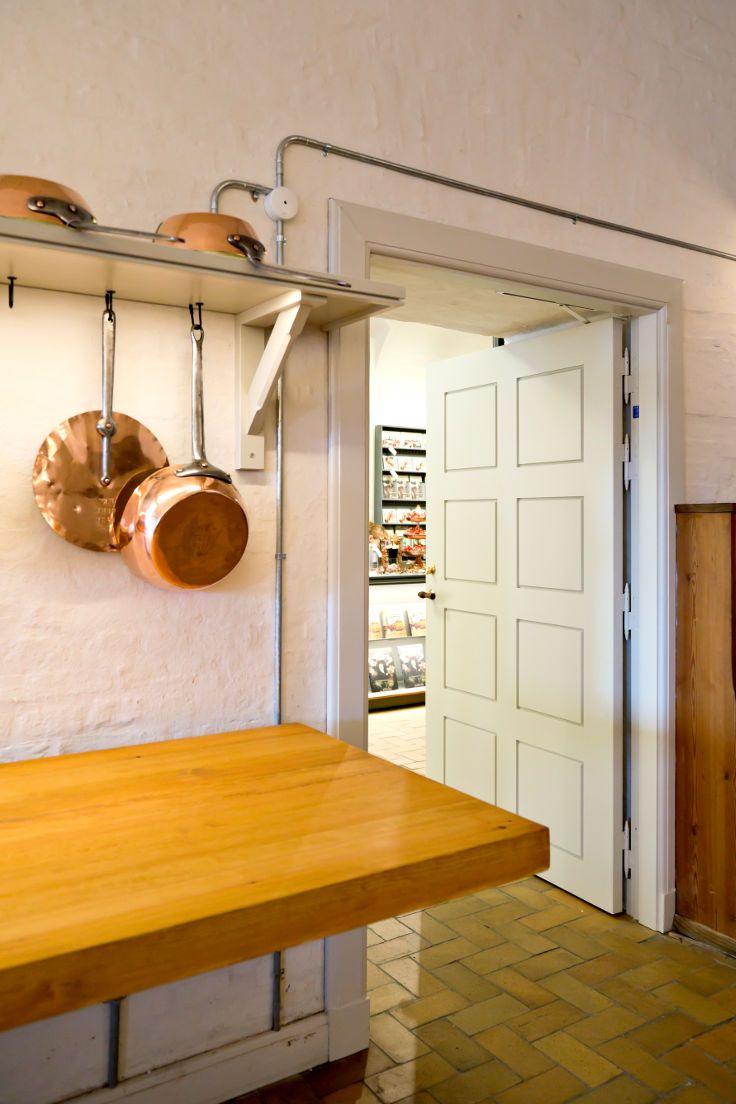 The Royal Copper Kitchen has been restored   New fire door with concealed door closer