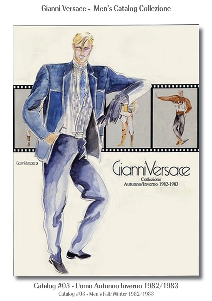 Gianni Versace Catalogue #03, Collezione Uomo Autunno Inverno 1982 / 1983. Men's Fall Winter Catalog 82 / 83.