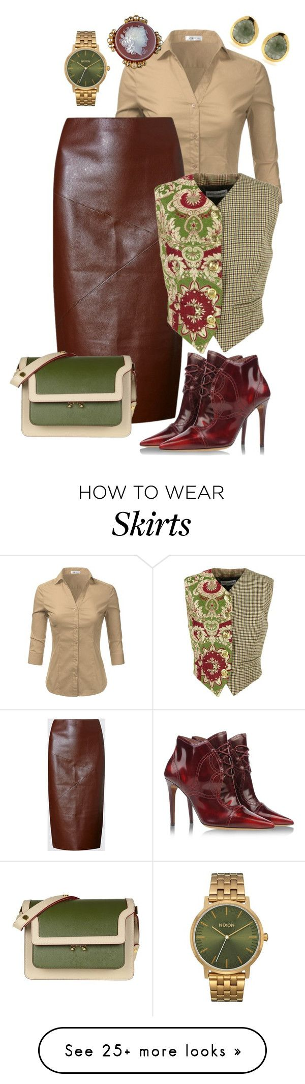 """Faux & Formal"" by donna-capodelupo on Polyvore featuring Doublju, M&S, Marni, Dolce&Gabbana, Tabitha Simmons, contestentry, leatherskirt and polyvorecontest"