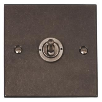 1 Gang Steel Dolly Switch with Polished Bevelled Plate made by Jim Lawrence
