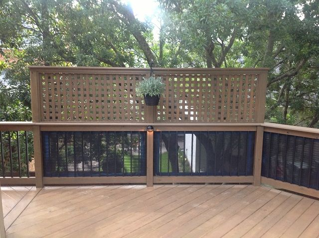 Top 25 best privacy screen for deck ideas on pinterest for Deck privacy screen plans