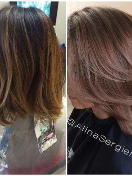 Сегодняшний мой подвиг. Новый цвет волос. Получился очень красивый и стильный образ👏  🌹✂Ваш мастер Алина Сергиенко ========================= #Окрашива... - Елена Сергиенко - Google+