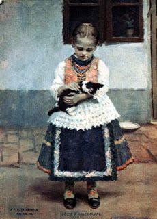 Áldor János László (1895 - 1944) : Bözsi macskával