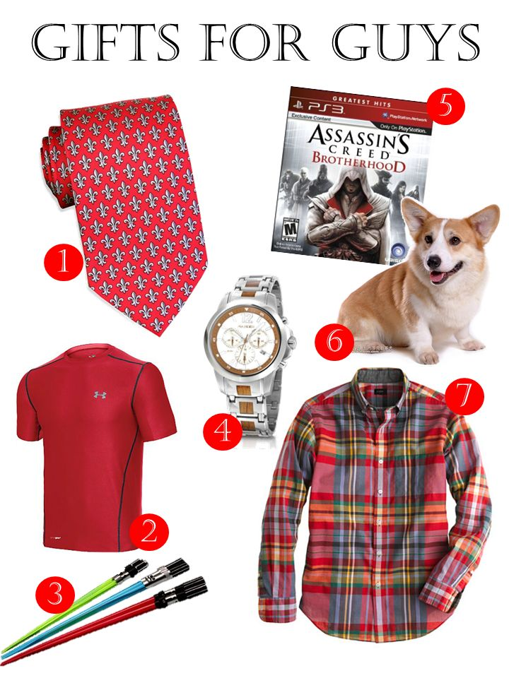 "Funny, a Valentine's ad showing good gifts for ""guys"".  I like that they included a Corgi, a perfect gift for anyone, anytime!"