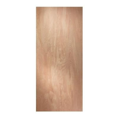 JELD-WEN Woodgrain Flush Solid Core Unfinished Hardwood Interior Door Slab-45605 - The Home Depot - $58