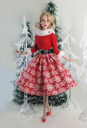 Christmas Snow, Miss Santa. Poppy photo via Flixr