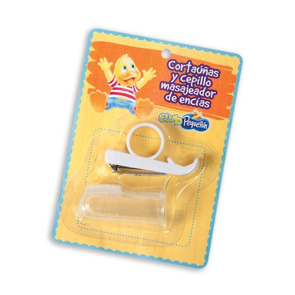 Cortauñas y cepillo masajeador de encías  Puntos: 590
