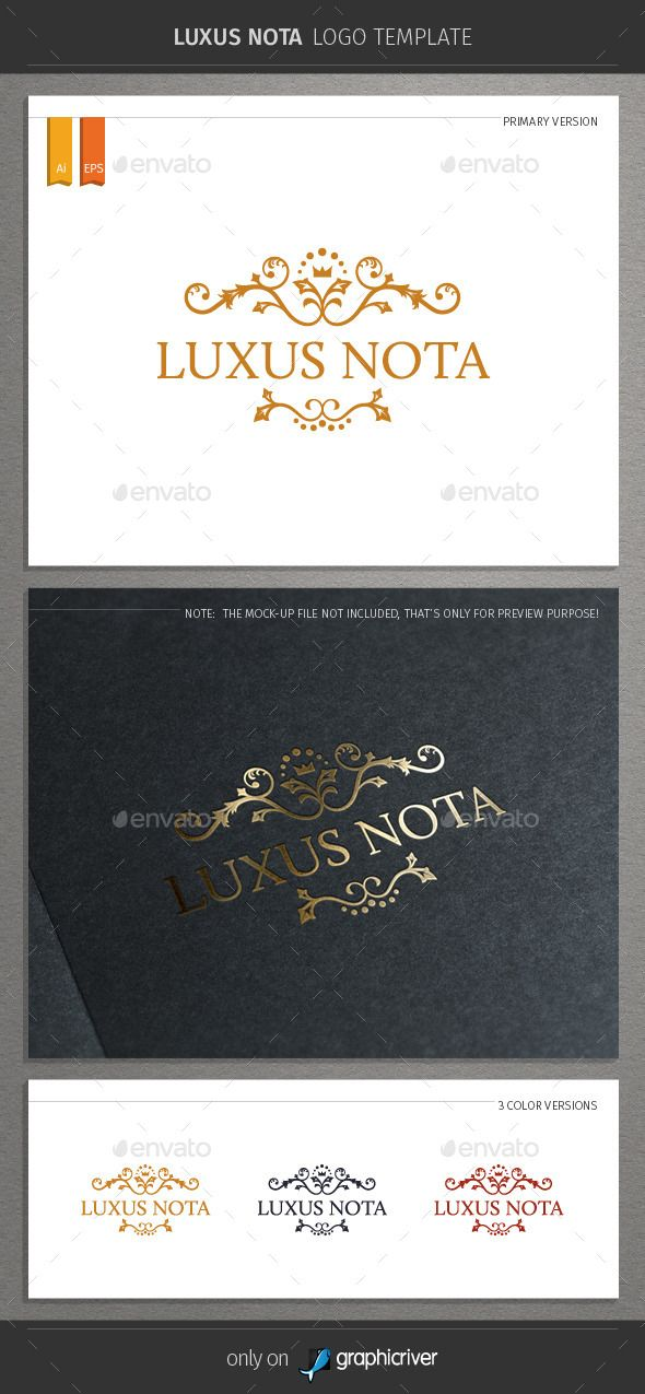 Luxus Nota Logo — Vector EPS #abstract #royal • Available here → https://graphicriver.net/item/luxus-nota-logo/9032338?ref=pxcr
