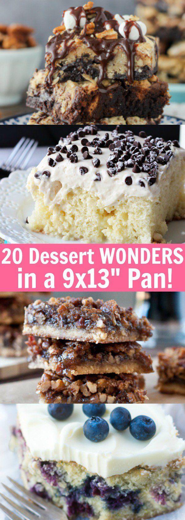 "20 Dessert Wonders Made in a 9x13"" Pan!"