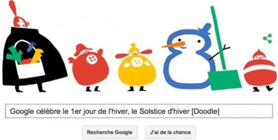 Google c l bre le 1er jour de l 39 hiver le solstice d 39 hiver doodle google doodles pinterest - Jour de l hiver ...