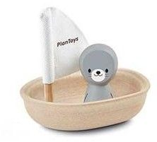 Plan Toys houten badspeelgoed Sailing Boat Seal