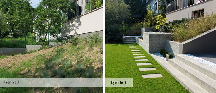 Before after garden design, Budapest