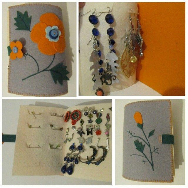 «#книжкадлясережек #handmade #bookforearrings #своимируками #felt»