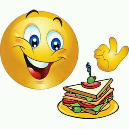 A smile and food always goes together !