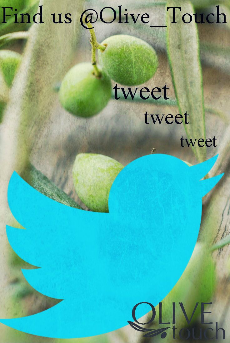 Follow Olive Touch on Twitter #tweet #twitter #olivetouch