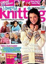 Simply Knitting Jan 2011 # 75 UK's No 1 Knitting Magazine Alan Dart's Lucky Pig