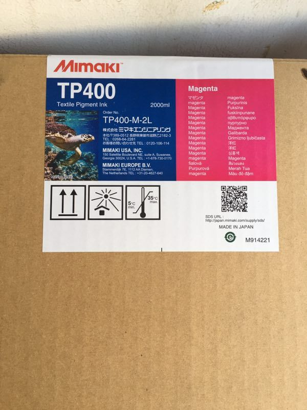 Mimaki TP400 Textile Pigment Inks Compatible with the MBIS (Mimaki