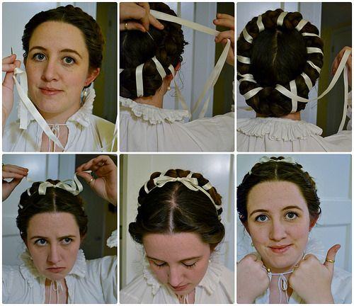 Hairtaping, 16th Century Italian Braids and Curls on MorganDonner.com