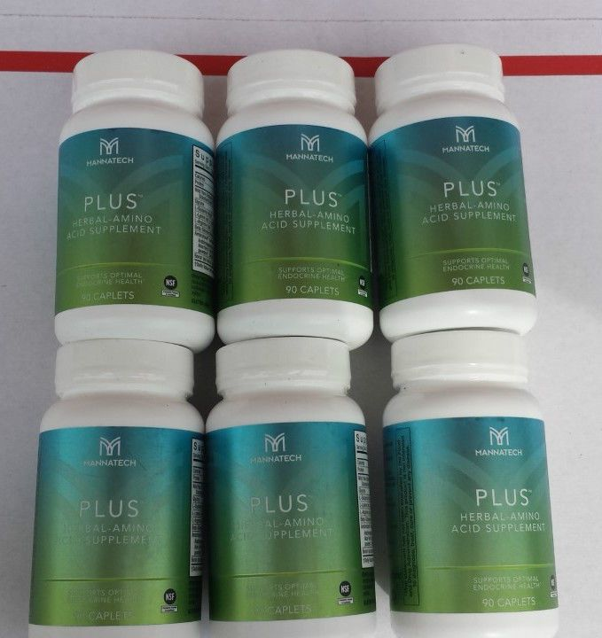 6 Bottles Mannatech Plus 90 Caplets BRAND NEW + Free shipping w/in USA+  Gift #Mannatech