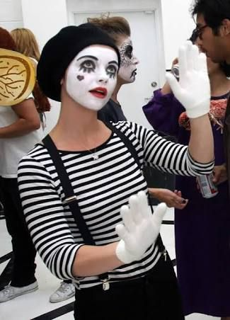mime costume female - Google Search                                                                                                                                                                                 More