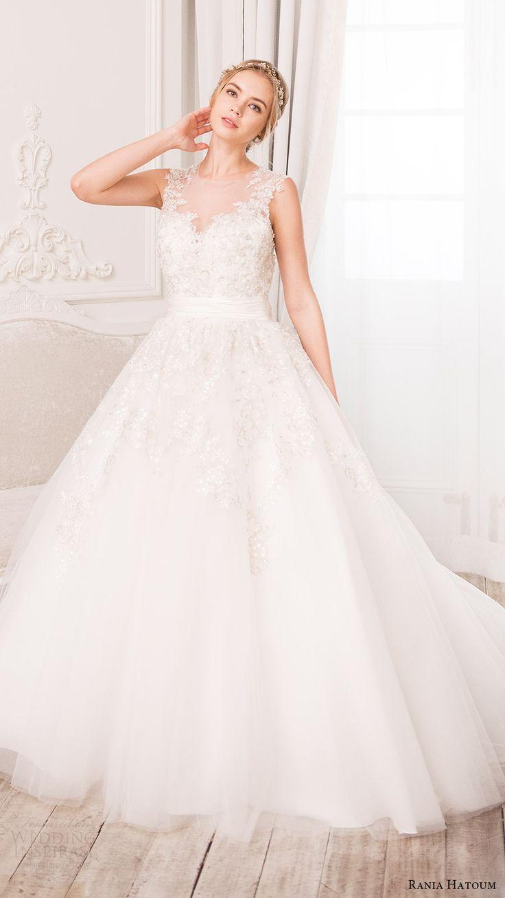 rania hatoum bridal spring 2017 sleeveless illusion jewel neck ball gown wedding dress (hazel) mv