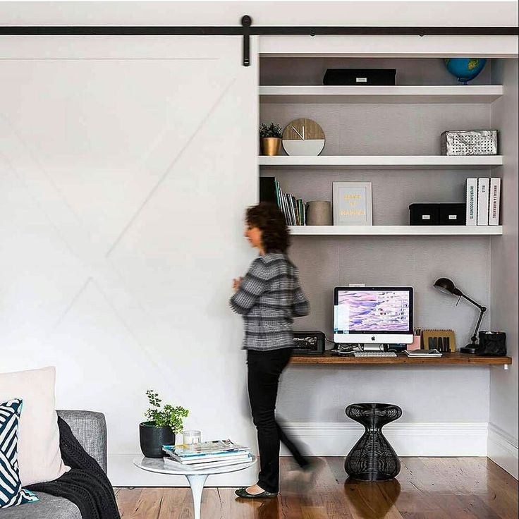 Workspace Inspo and Image Regram thanks to @homestoloveau @mareehomer story @homesplusmag It's all about clever workspaces and workspace nooks today. If you think you don't have the room or not sure where to create one....our features today will hopefully give you some inspiration. This clever workspace nook is hidden behind sliding doors in a living area....a great way to hide workspace chaos but also stay close to the family in what is often the hub of the home. by theworkspacestylist