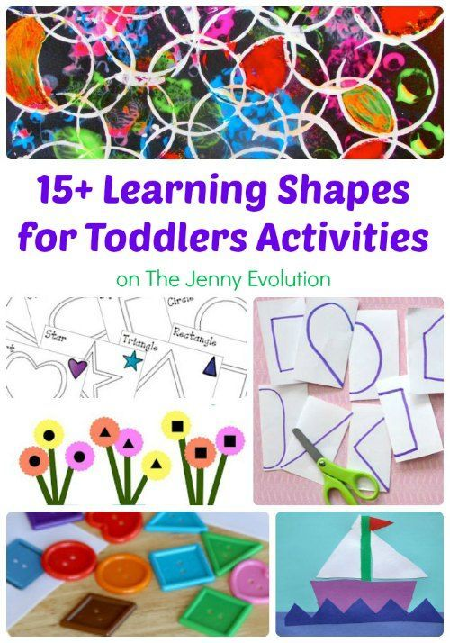15  Learning Shapes for Toddlers Activities | The Jenny Evolution