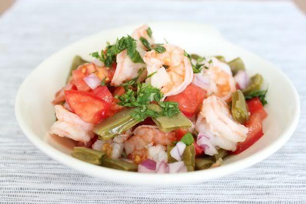 Shrimp and Cactus salad